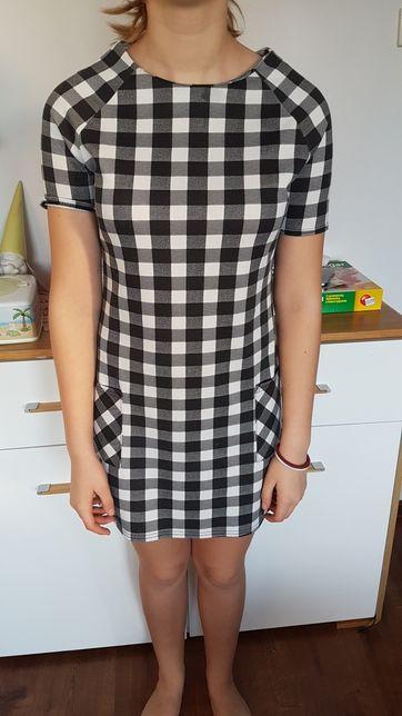 NEW LOOK fajna sukienka młodzieżowa w kratę 152/158 cm!