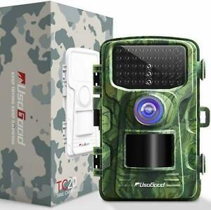 """Fotopułapka, Kamera Leśna TC20 Trail Kamera 14MP 1080P 2.4"""" LCD 46 IR"""