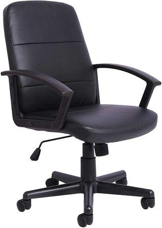 Office Essentials Skórzany fotel  biurowy obrotowy NOWY