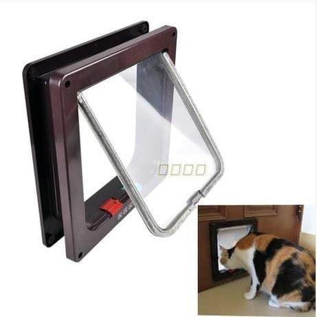 Дверка 23,4*25 см для кошек/маленьких собак Коричневая Новая