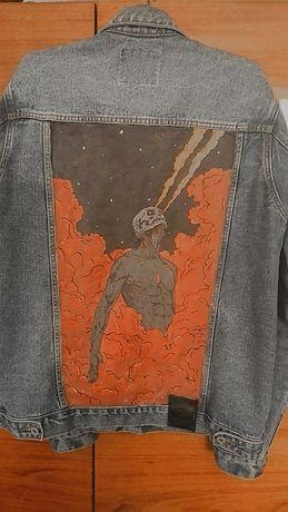 Кастомная джинсовая куртка