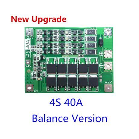 BMS контроллер плата 3S, 4S 40A с балансировкой, защита 18650. 6S 15A