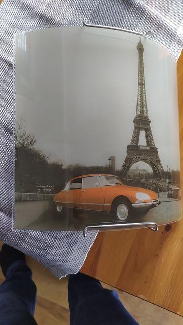 Stylowa lampa plafon kinkiet z motywem Paryża