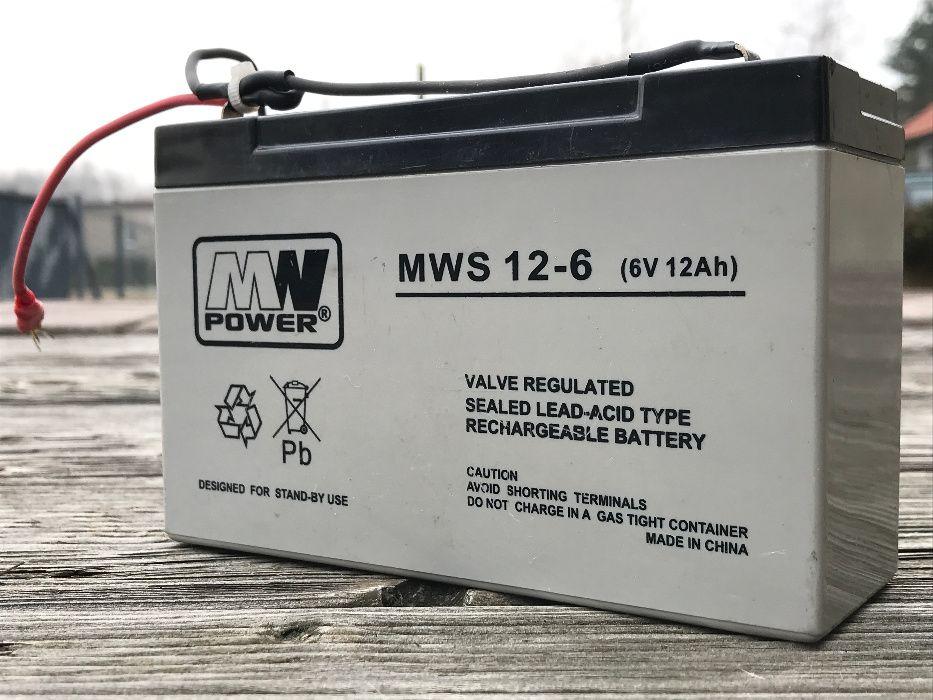 Akumulator AGM MWP MWS 12-6 (6V 12Ah) MW Power Rybnik - image 1