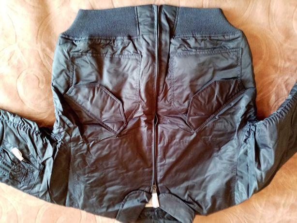 Куртка мужская короткая синяя  и олива