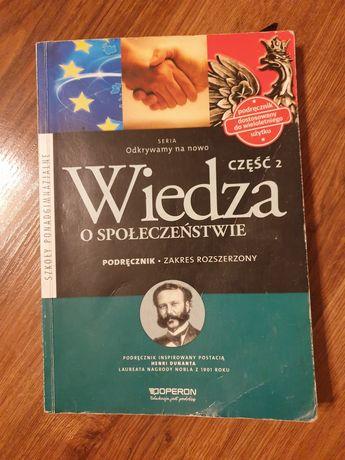 """Podręcznik do WOSu rozszerzonego """"Wiedza o społeczeństwie"""" Operon"""