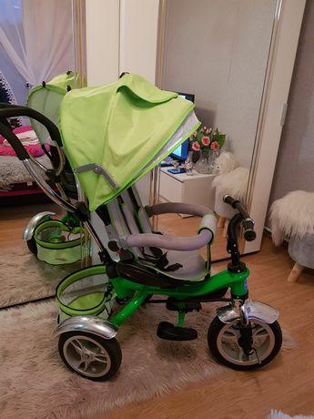 Rowerek zielony trzykołowy