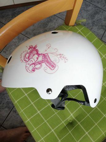 kask dziewczecy  rowerowy, hulajnoga wrotki