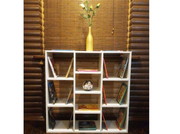 НОВЫЙ Стеллаж полки 100*100*30 см! Белый шкаф тумба для книг в детскую