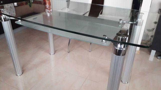 Sprzedam szklany stół z krzesłami