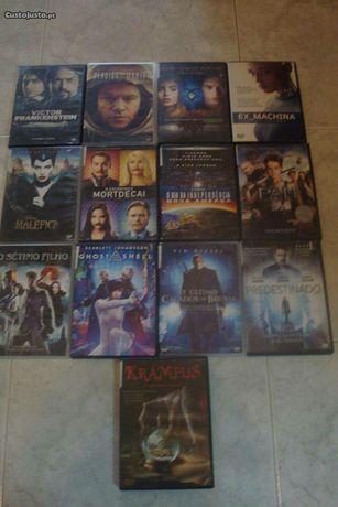 77 dvds recentes originais novos, usados e até selados