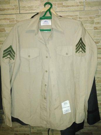 Рубашка КМП США, USMC сержант с длинным рукавом, размер М.