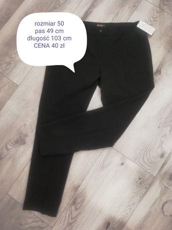 Spodnie materiałowe wyjściowe rozmiar 50 czarne