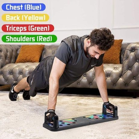 Доска для отжиманий тренажер опора стойка с уровнями фитнес