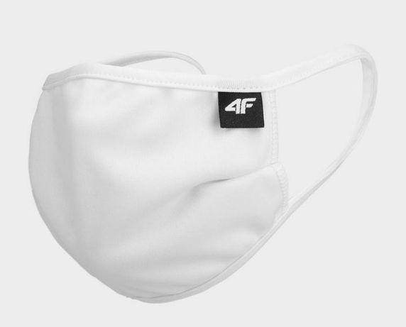Maseczka 4F wielokrotnego użytku maska ochronna z jonami srebra biel