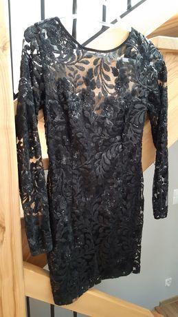 Czarna sukienka koronką Lou carla r.S