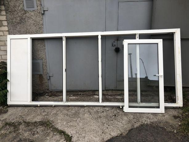 Металопластиковая балконная рама,стеклопакеты.