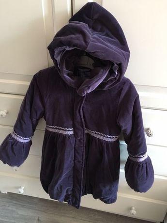 Name it, fioletowy zimowy płaszczyk, dłuższa kurtka, rozm. 5-6, 116