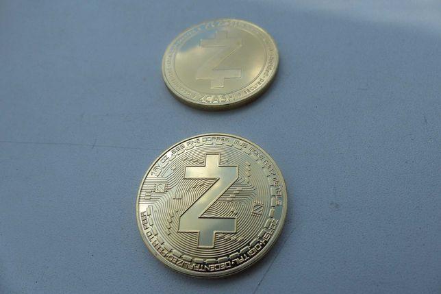 Bitcoin. Сувенирная монета Zcash