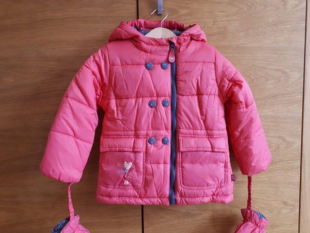 NOWA kurtka zimowa Coccodrillo rozm. 98 + rękawiczki, ciepła, zima