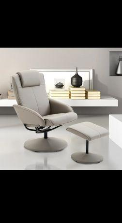 Fotel rozkładany z podnóżkiem