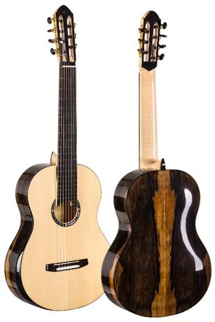 Gitara klasyczna lutnicza 7-strunowa Turkowiak Patent Acoustic Tubes