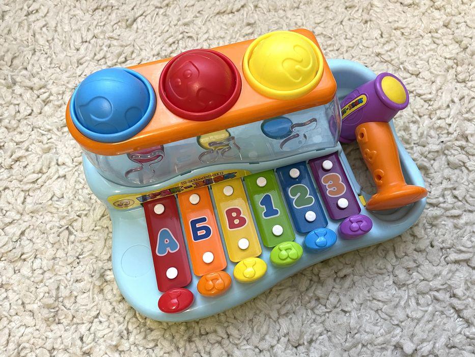 Ксилофон Бряк Звяк, развивающая игрушка музыкальная Александрия - изображение 1