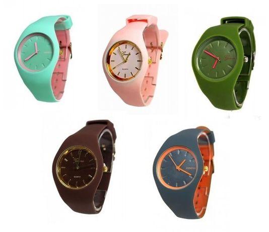 Damski silikonowy zegarek 5 kolorów - NOWY