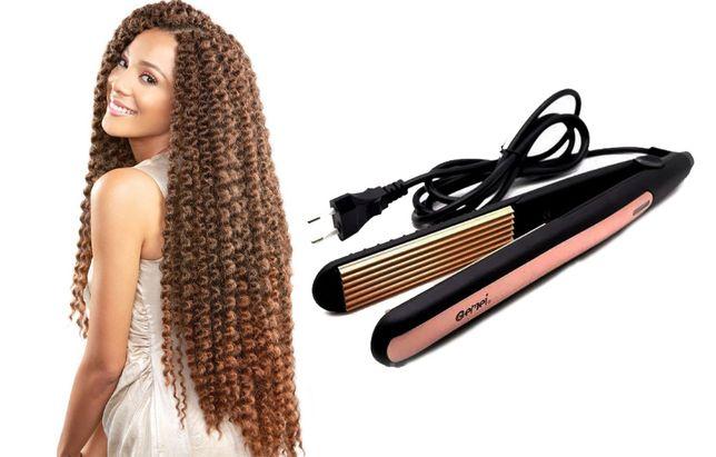 Гофре Geemy Gm-2955 Утюжок для волос щипцы для завивки пляжные локоны