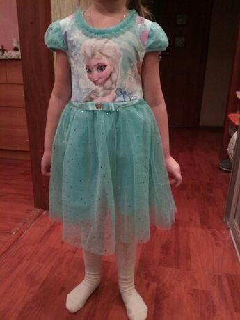 В наличии Нарядное платье Эльзы на 1,2,3 года