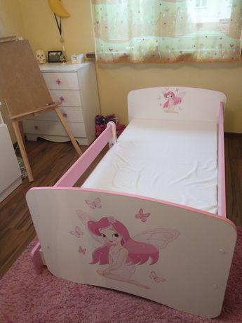 Łóżko 165 x 85 cm z materacem piankowym