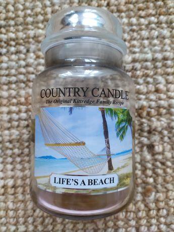 Świeca duża Country Candle life's a beach