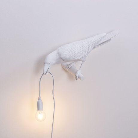 Lampa ścienna Ptak Bird 33x12 cm biały seletti Nowa !