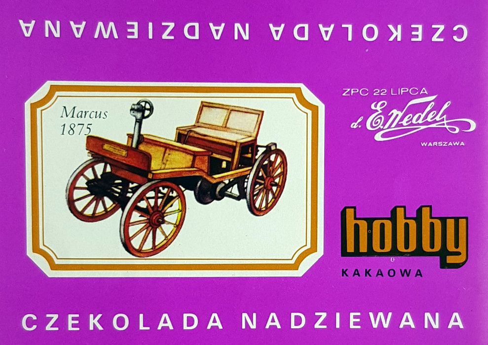 Hobby Wedel Opakowania czekolad - Seria D - Samochody Warszawa - image 1