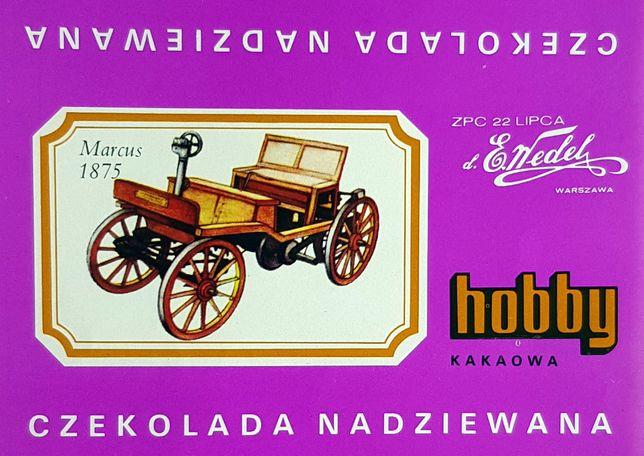 Hobby Wedel Opakowania czekolad - Seria D - Samochody