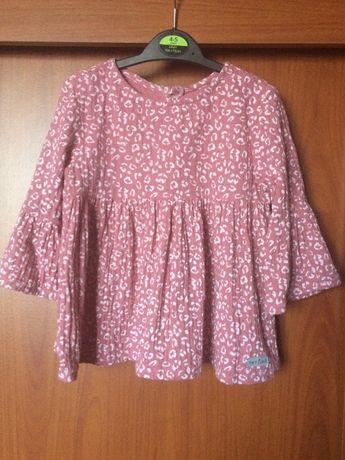 Nowa różowa muślinowa bluzka, polski handmade TATURO, rozm. 110