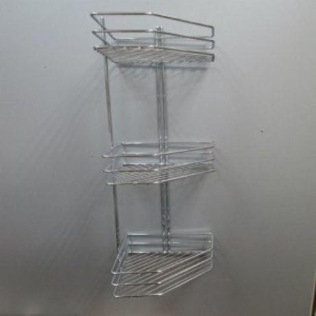 Полка металлическая подвесная для ванной FZB - угловая