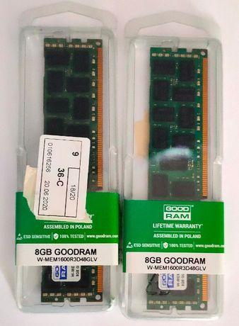 Память Goodram DDR3L-1600 8192MB PC3L-12800 ECC Registered