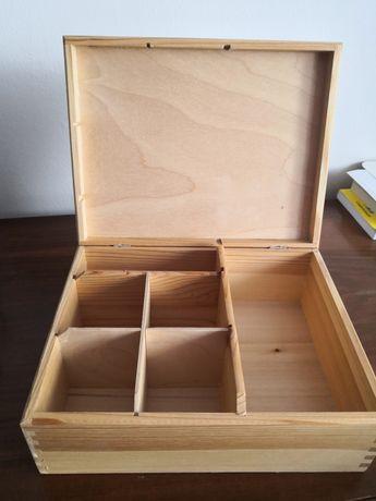 Szkatułka drewniana pojemnik na drobiazgi