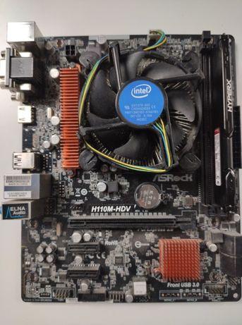 Procesor i3-6100 3.7ghz, Płyta asrock H110M-HDV, Ram 4GB 2,133mhz