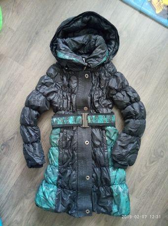 Пальто осеннее демисезонное куртка 140/146