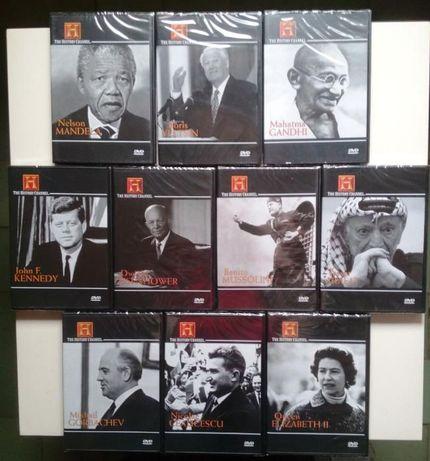 Colecção DVD de 10 das maiores personalidades do mundo e da historia