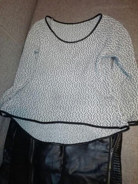 Kurtka sweter spódnica