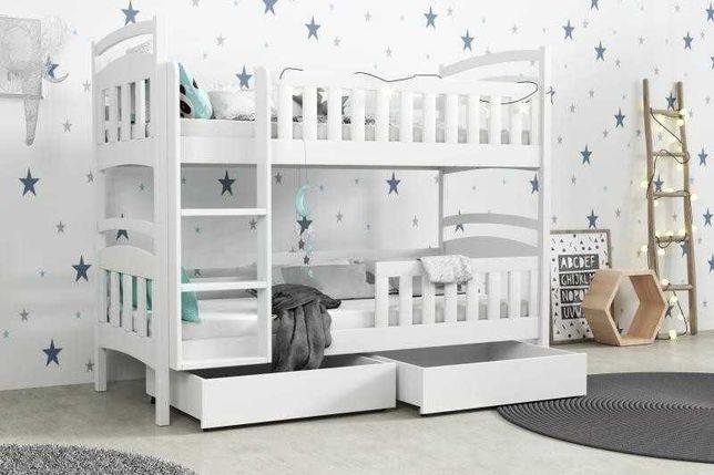 Nowe łóżko piętrowe + materace! Trzy kolory do wyboru! Duży wymiar