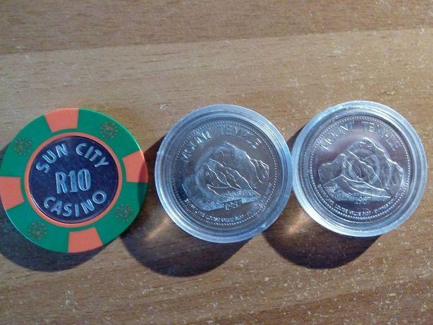 Monety pamiątkowe + żeton