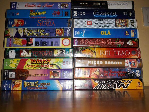 Cassetes de videos VHS