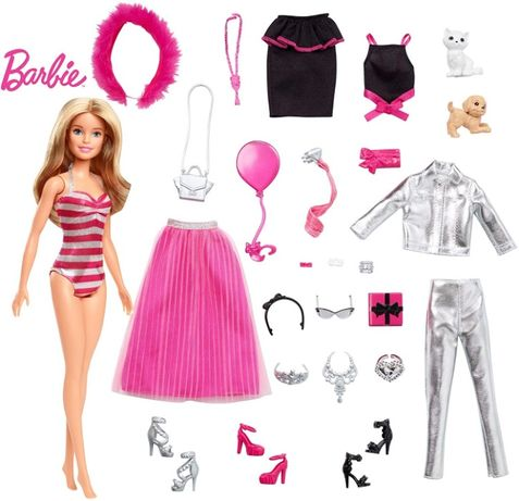 Адвент календарь Барби и 24 предмета, одежда для куклы Барби