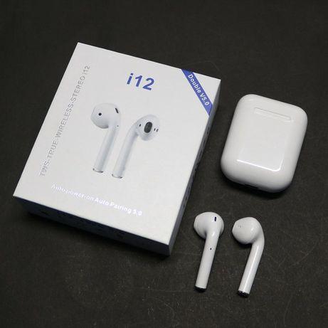 AirPods Bluetooth наушники TWS i12, безпровідні наушники
