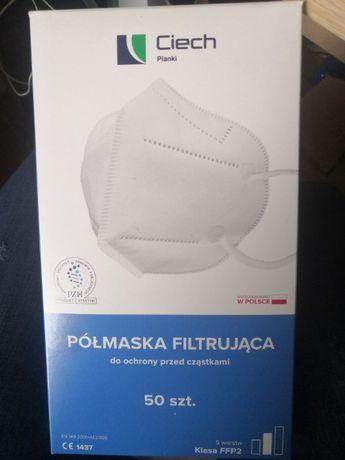 Półmaska filtrująca FFP2 polskiej firmy Ciech