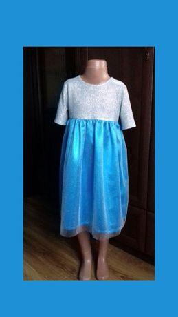 Нарядное платье для девочки. Платье Эльзы. Святкова сукня для дівчинк